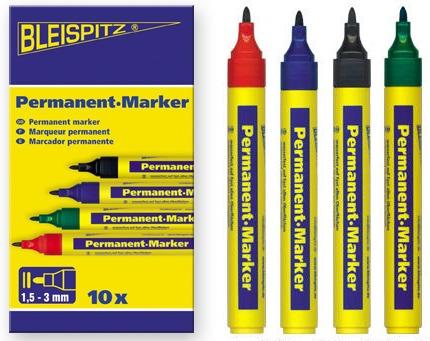 Bleispitz permanent marker 1,5-3mm 10st