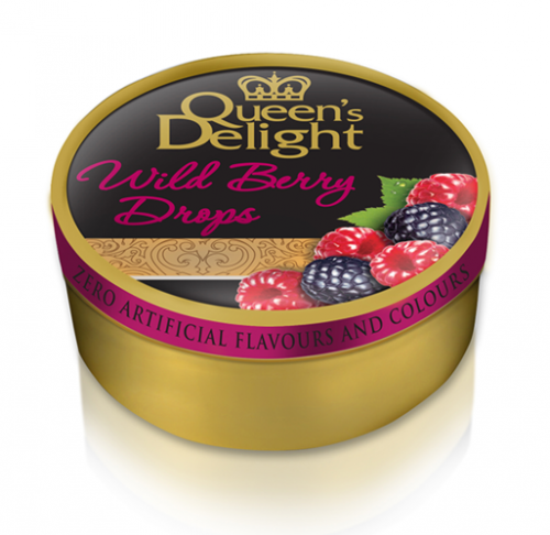 "Queen's delight hårda karameller ""Wild berry drops"" 150g"