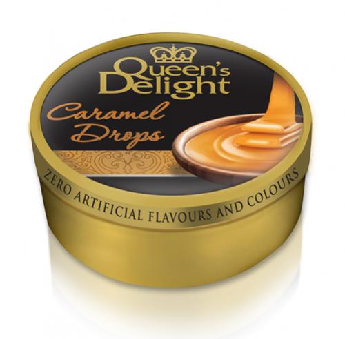 """Queen's delight hårda karameller """"Caramel drops"""" 150g"""