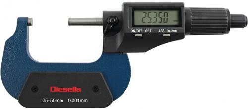 Bygelmikrometer digital DIN863 0-25mm