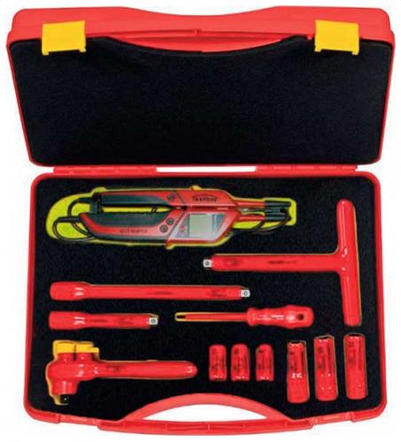 "Friedrich elbil verktygsset 1000V 3/8"" 12-delar"