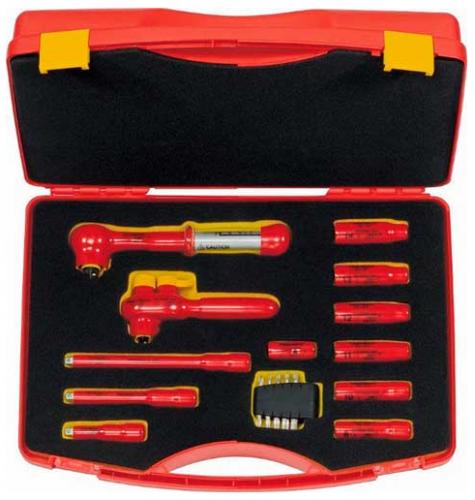 "Friedrich elbil verktygsset 1000V 1/4"" &  3/8"" 12-delar"