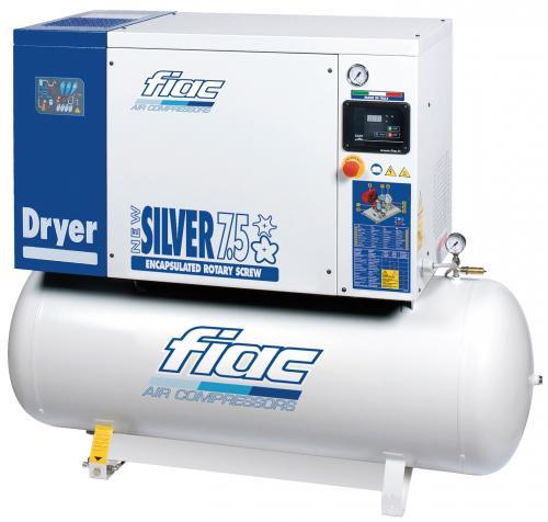 Fiac New Silver 7,5/10 skruvkompressor, kyltork, livsmedelsgodkänd