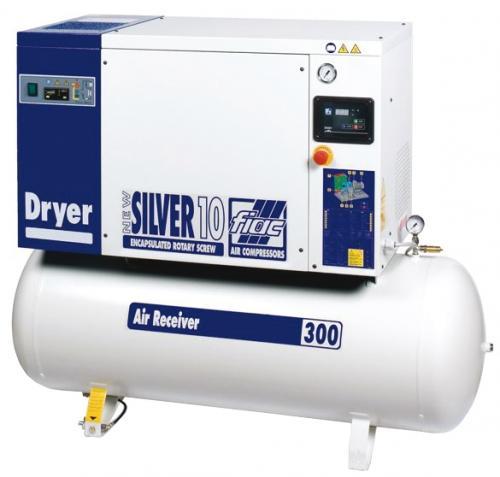 Fiac New Silver 10/10 skruvkompressor med kyltork