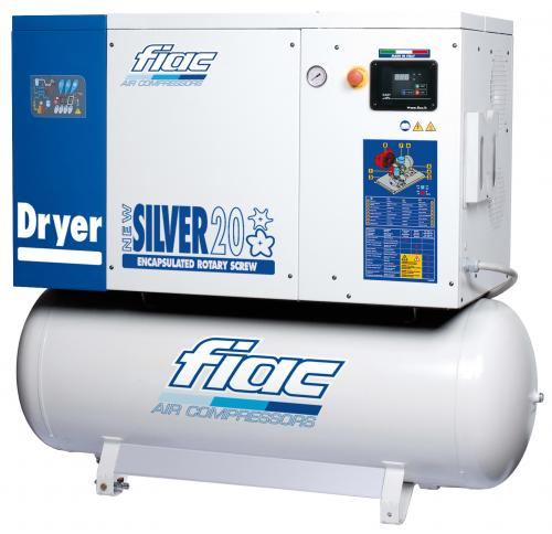 Fiac New Silver 20/10 skruvkompressor med kyltork