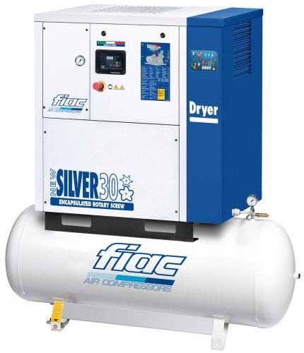 Fiac New Silver 30/08 skruvkompressor med kyltork