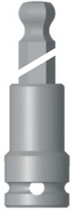 """1/4"""" krafthylsa insex med kula (längd 125mm)"""