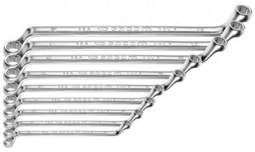 Facom 55A.JD8 ringnyckelsats offset 6x7-20x22mm (8st)