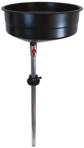 Uppsamlingsskål med rör 10l för oljefat