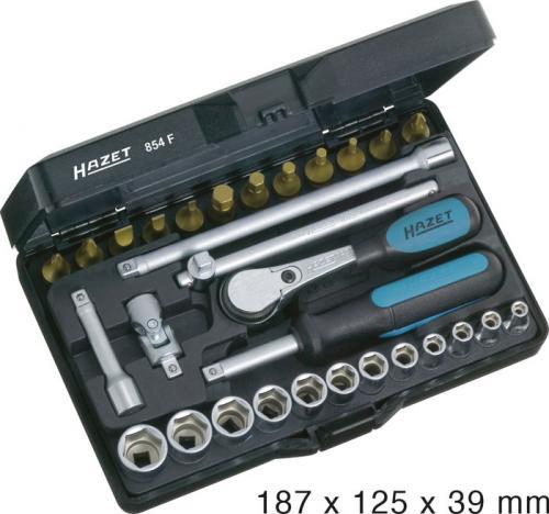 "Hazet hylnyckelsats 1/4"" 854F"