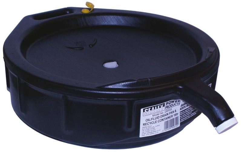Spilloljebehållare 16l (sluten behållare)
