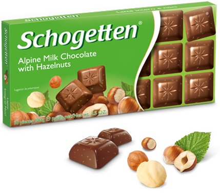 Schogetten alpine milk chocolate hazelnut 100g