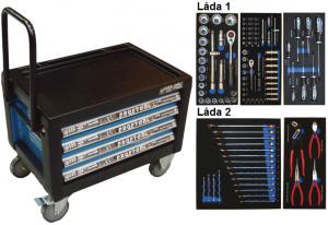Bato verktygsbox mini med hjul 4 lådor (inkl 103 delar)