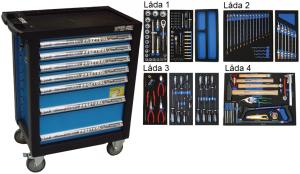 Bato verktygsvagn 7 lådor (inkl 140 delar)