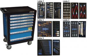Bato verktygsvagn 7 lådor (inkl 242 delar)