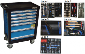 Bato verktygsvagn 7 lådor (inkl 389 delar)