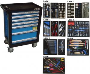 Bato verktygsvagn 7 lådor (inkl 403 delar)