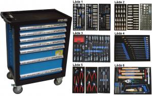 Bato verktygsvagn 7 lådor (inkl 435 delar)