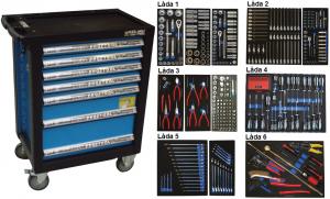 Bato verktygsvagn 7 lådor (inkl 436 delar)