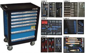 Bato verktygsvagn 7 lådor (inkl 442 delar)
