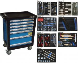 Bato verktygsvagn 7 lådor (inkl 450 delar)