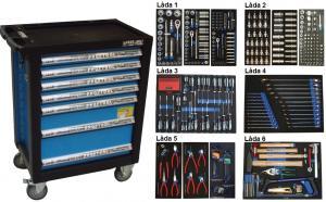 Bato verktygsvagn 7 lådor (inkl 461 delar)