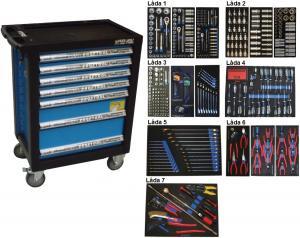 Bato verktygsvagn 7 lådor (inkl 486 delar)
