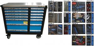 Bato verktygsvagn XXL Master 14 lådor (inkl 506 delar)