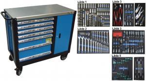 Bato verktygsvagn 7 lådor och skåp XXL (inkl 208 delar) tum