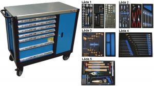 Bato verktygsvagn 7 lådor och skåp XXL (inkl  231 delar)