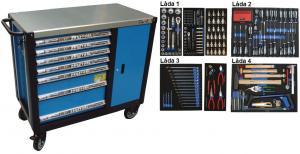 Bato verktygsvagn 7 lådor och skåp XXL (inkl 260 delar)