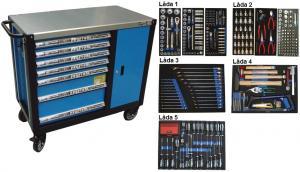 Bato verktygsvagn 7 lådor och skåp XXL (inkl 389 delar)