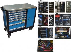Bato verktygsvagn 7 lådor och skåp XXL (inkl  403 delar)