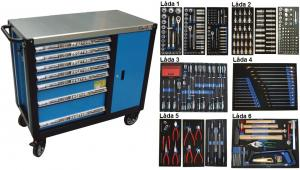 Bato verktygsvagn 7 lådor och skåp XXL (inkl  435 delar)