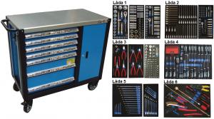 Bato verktygsvagn 7 lådor och skåp XXL (inkl  436 delar)
