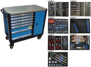 Bato verktygsvagn 7 lådor och skåp (inkl 450 delar)