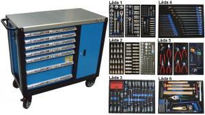 Bato verktygsvagn 7 lådor och skåp XXL (inkl  461 delar)