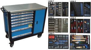 Bato verktygsvagn 7 lådor och skåp XXL (inkl  468 delar)