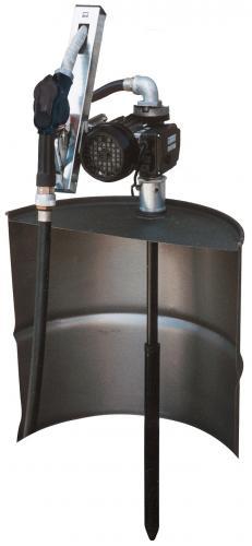 Dieselpump komplett kit för fat 230V 56l/min