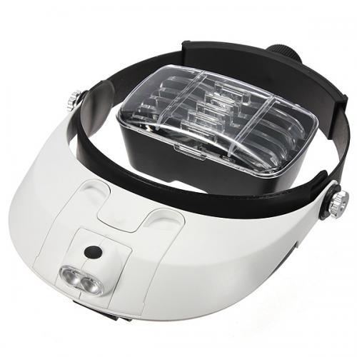 Huvudförstoringsglas LED