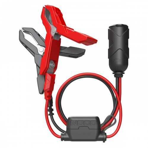 NOCO GC017 / 12V-Cigarettuttag (hona) till batteriklämmor