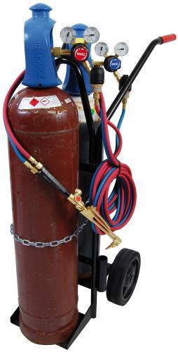 WHC Gassvetskärra för 20L, WHC11 komplett med regulatorer