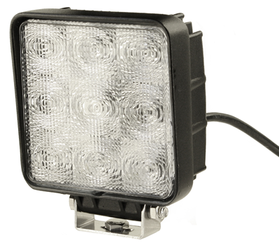 Arbetsbelysning Slim LED 9x3w (22w) Wide fyrkantig