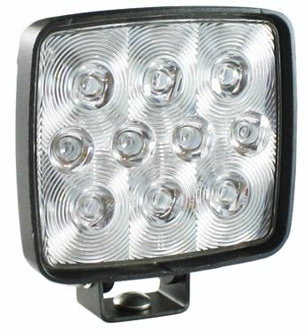 Arbetsbelysning LED-10 10x1.5w (16w) Wide fyrkantig