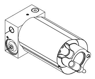 AC lufthydraulisk luftpump, luftmotor nya