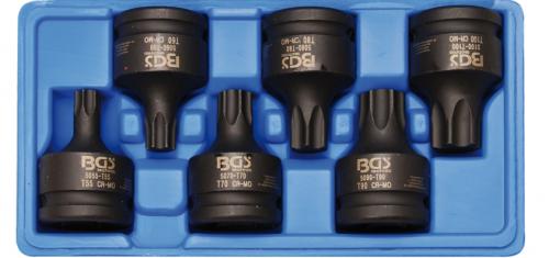 """BGS Technic 3/4"""" krafthylssats torx lastbil/entreprenad T55-T100"""