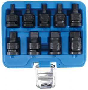 """BGS Technic 1/2"""" krafthylssats insex 5-19mm korta (9 delar)"""