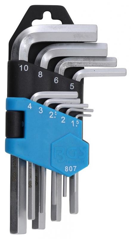 BGS Technic insexnyckelsats (extra korta) 1,5-10mm