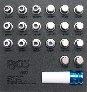 BGS Technic 8932 specialhylsor för BMW-låsbultar (21st)