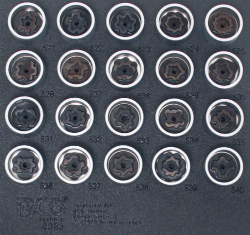 BGS Technic 8963 specialhylsor för VAG-låsbultar (20st)